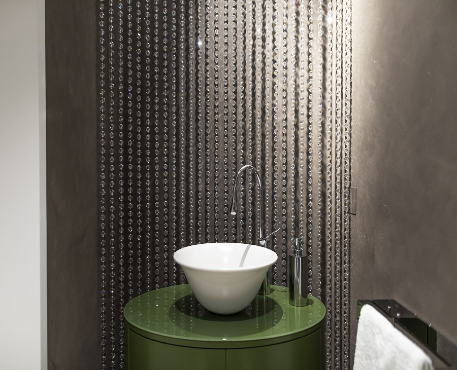 Swarovski Crystals Elevate Bathroom Decor
