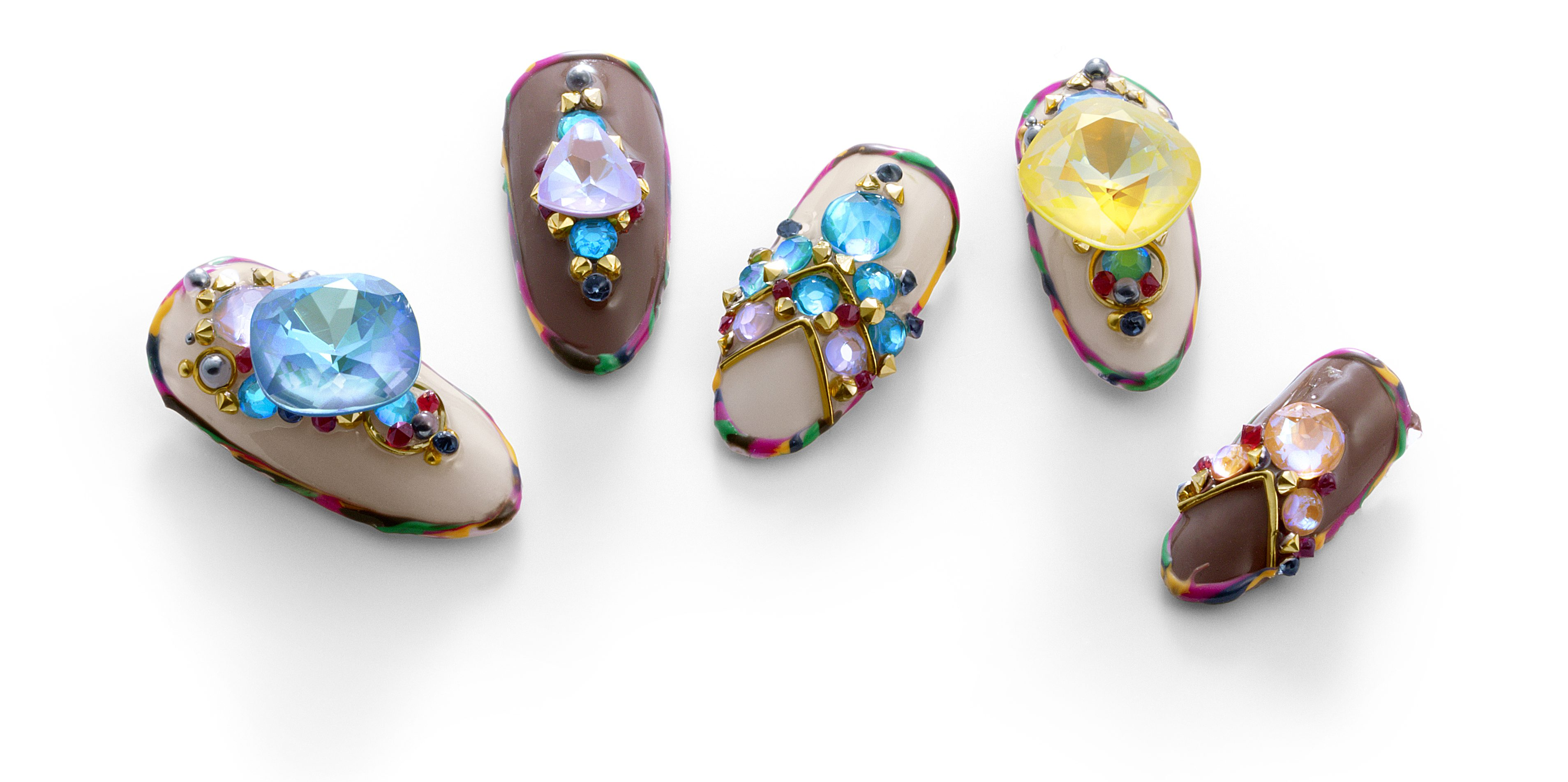 jewel clusters for nails with swarovski crystals
