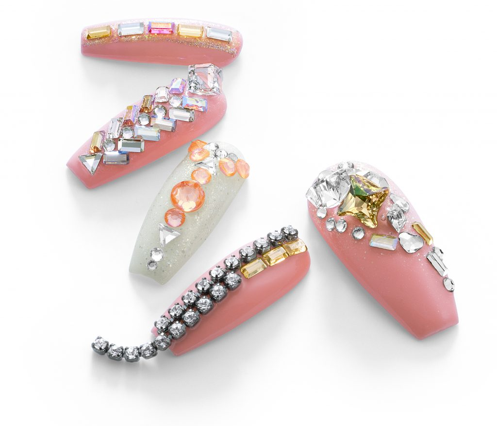 Swarovski geometric flat backs