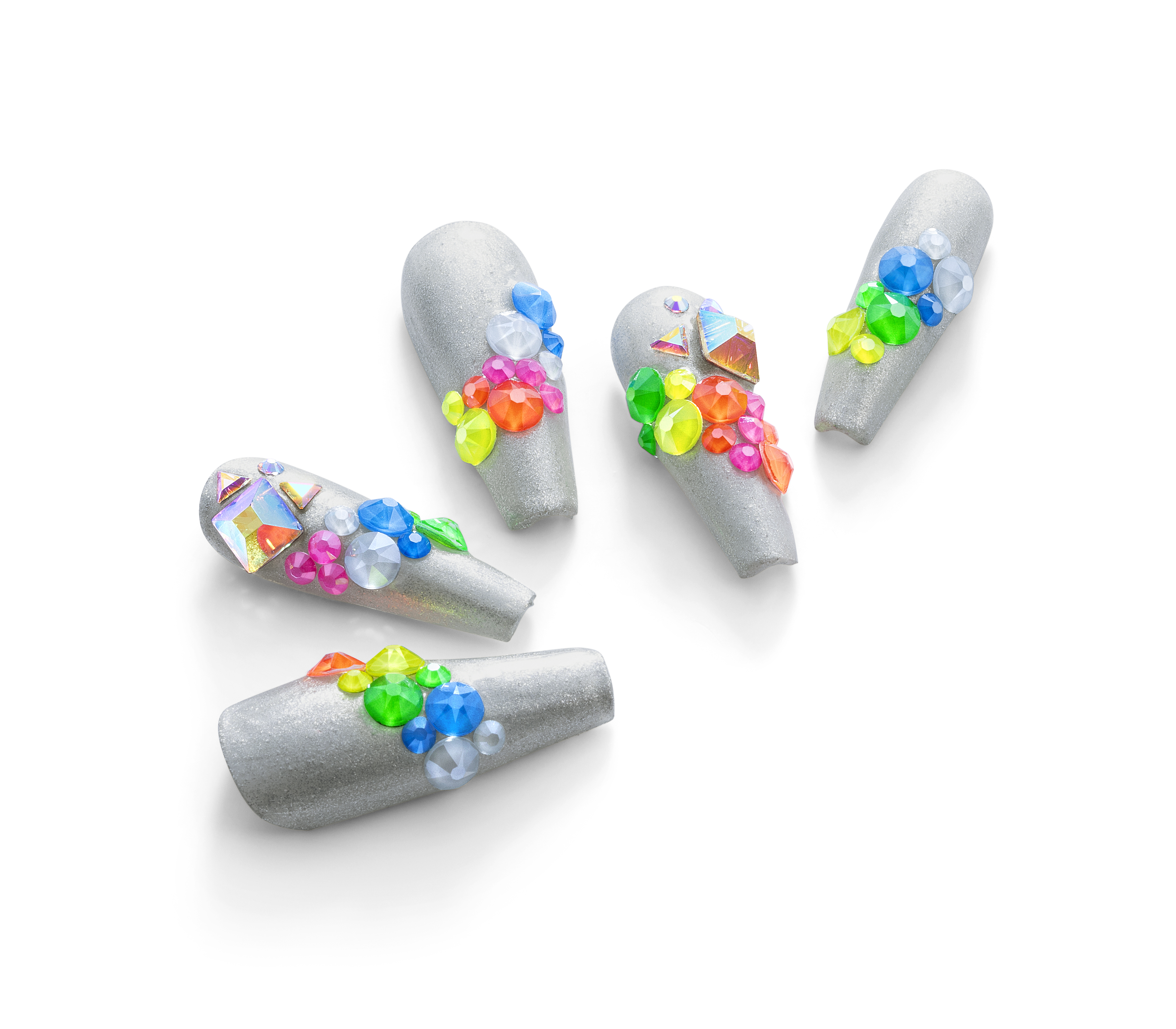 Neon Swarovski crystals for nails