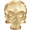 SWAROVSKI®  2856 Skull  Crystal Golden Shadow  Foiled