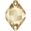 SWAROVSKI®  3211 Pyramid  Crystal Golden Shadow  Foiled