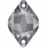 SWAROVSKI®  3211 Pyramid  Crystal Silver Night  Unfoiled