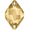 SWAROVSKI®  3211 Pyramid  Light Colorado Topaz   Foiled