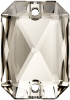 SWAROVSKI®   3252  Emerald Cut Crystal Silver Shade  Foiled