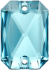 SWAROVSKI®   3252  Emerald Cut Aquamarine   Foiled