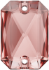 SWAROVSKI®   3252  Emerald Cut Vintage Rose   Foiled