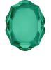 SWAROVSKI®  4142 Baroque Mirror  Emerald   Foiled