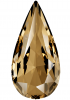 SWAROVSKI®   4322 Teardrop Crystal Golden Shadow