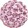 SWAROVSKI® 86001 Pave Ball Light Rose