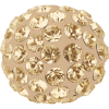 SWAROVSKI®   86301  Half Hole Pavé Ball Crystal Gold.Shadow