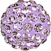 SWAROVSKI®   86301  Half Hole Pavé Ball Light Amethyst