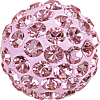 SWAROVSKI®   86301  Half Hole Pavé Ball Light rose
