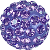 SWAROVSKI®   86301  Half Hole Pavé Ball Tanzanite