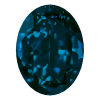 AURORA   A4120  Oval Silver Foiled Pacific Opal