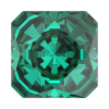 SWAROVSKI®   4499 Kaleidoscope Square Emerald   Foiled