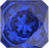 SWAROVSKI®   4499 Kaleidoscope Square Majestic Blue   Foiled