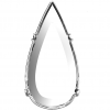 4322S Teardrop Rhodium