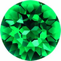 SWAROVSKI® 1088 Emerald  Unfoiled