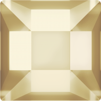 SWAROVSKI®   2400  Square Crystal Golden Shadow  Foiled