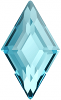 SWAROVSKI®   2773  Diamond Shape Aquamarine   Foiled