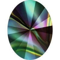 SWAROVSKI® 4122 Rivoli  Crystal Rainbow Dark  Foiled