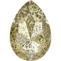 SWAROVSKI® 4327 Crystal Gold Patina Foiled