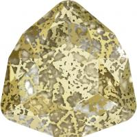 SWAROVSKI® 4706 Crystal Gold Patina Foiled