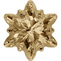 SWAROVSKI ® 4753G Edelweiss Crystal Golden Shadow  Foiled Fr