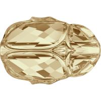 SWAROVSKI® 5728 Scarab  Crystal Gold.Shadow