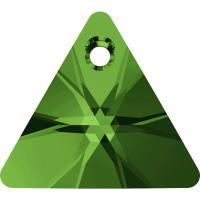 SWAROVSKI® 6628 Triangle Pendant Dark Moos Green