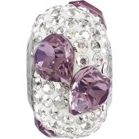 SWAROVSKI® 81722 Pavé Heart Bead Crystal Antique Pink-White MM 15,5|1 Stück - 15.90 EUR