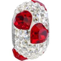 SWAROVSKI® 81722 Pavé Heart Bead  Light Siam