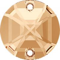 STELLUX ™   A310 Round Stone  Crystal Gold Honey