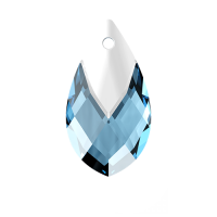SWAROVSKI®   6565  Metallic Cap Pear Aquamarine