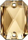 SWAROVSKI®   3252  Emerald Cut Crystal Gold. Shadow  Foiled MM 14,0X 10,0|36 Stück - 44.90 EUR